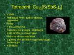 tetraedrit cu 12 s sbs 3 4