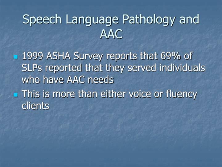 Speech Language Pathology and AAC
