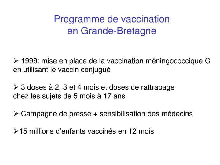 Programme de vaccination