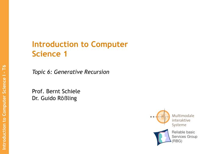 introduction to computer science 1 n.