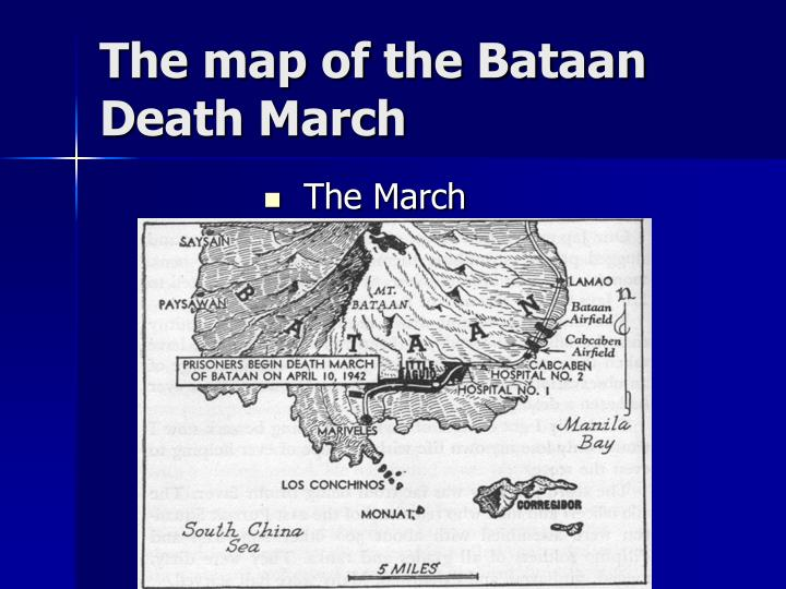 The map of the Bataan Death March