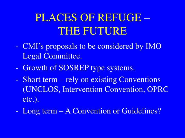 PLACES OF REFUGE –