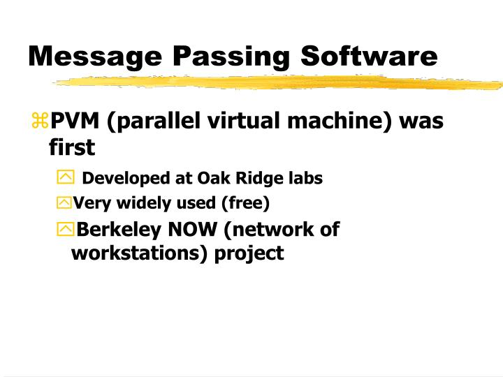 Message Passing Software