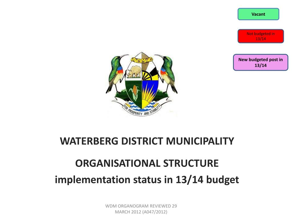 ppt waterberg district municipality organisational structure