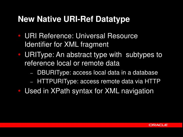 New Native URI-Ref Datatype