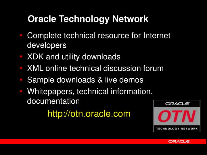 Oracle Technology Network