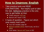 how to improve english1