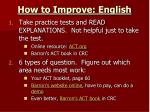 how to improve english2
