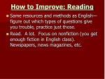 how to improve reading