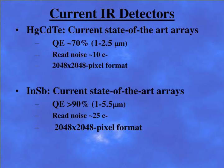 Current IR Detectors