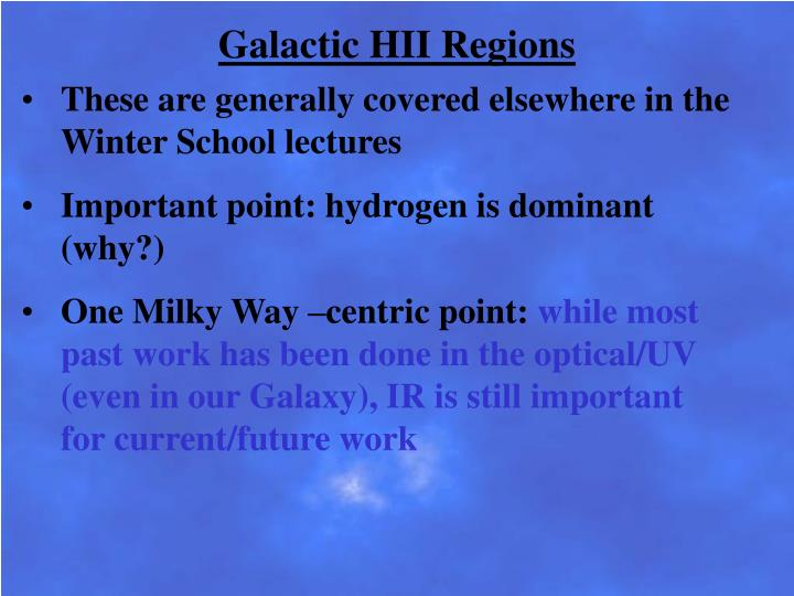 Galactic HII Regions