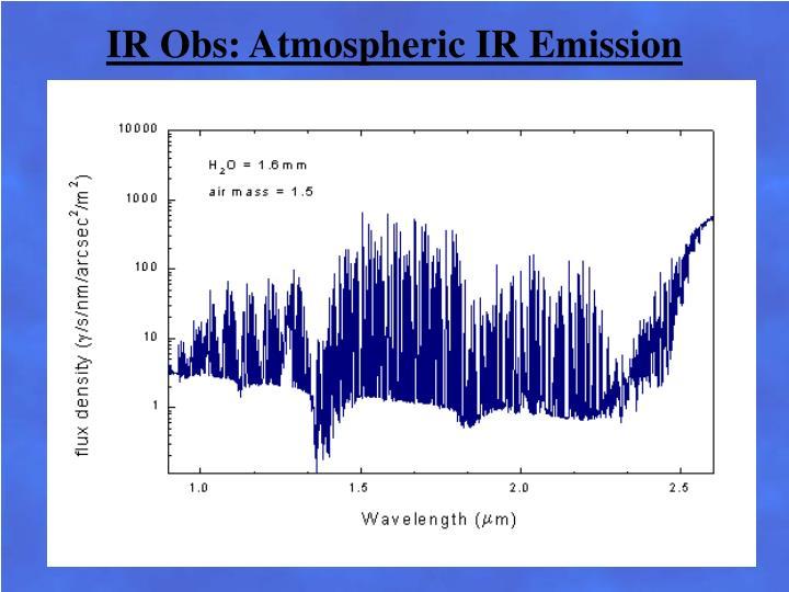 IR Obs: Atmospheric IR Emission