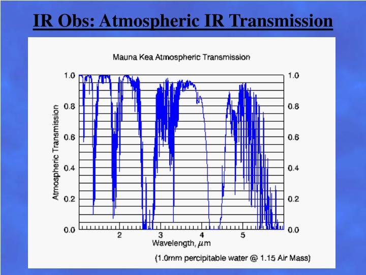 IR Obs: Atmospheric IR Transmission