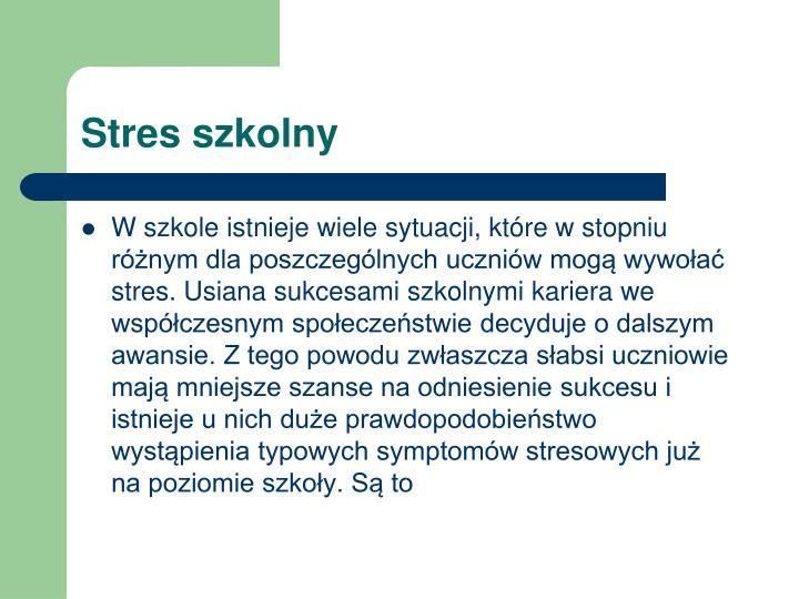 Stres szkolny