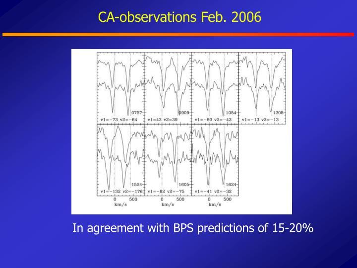 CA-observations Feb. 2006