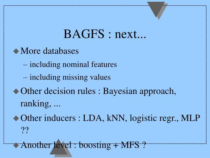 BAGFS : next...