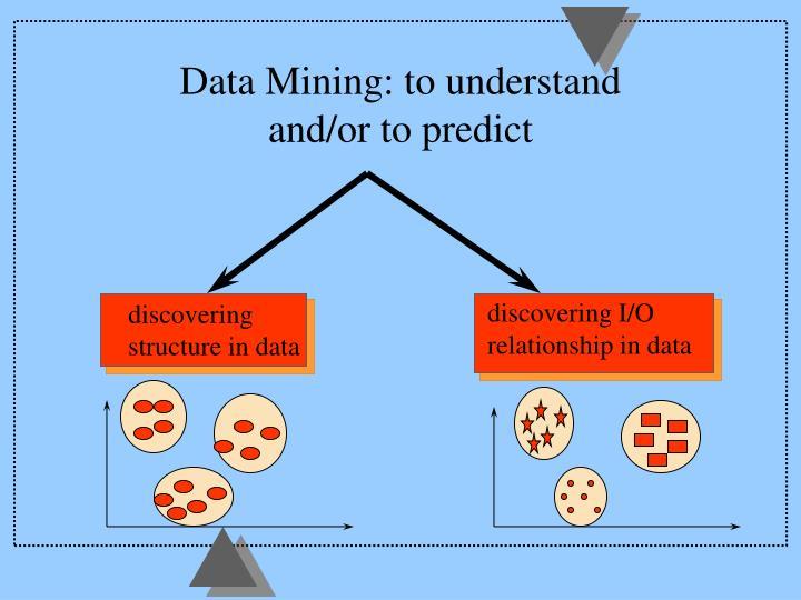 Data Mining: to understand