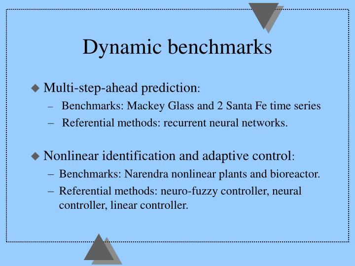 Dynamic benchmarks