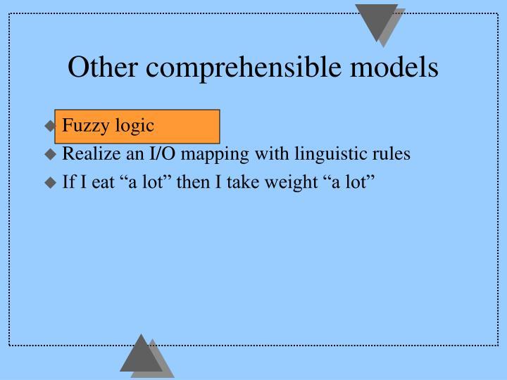 Other comprehensible models