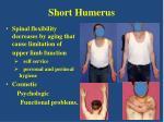 short humerus