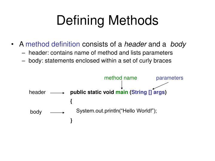 method name
