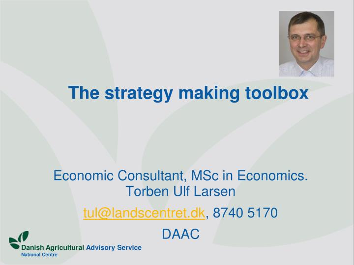the strategy making toolbox n.