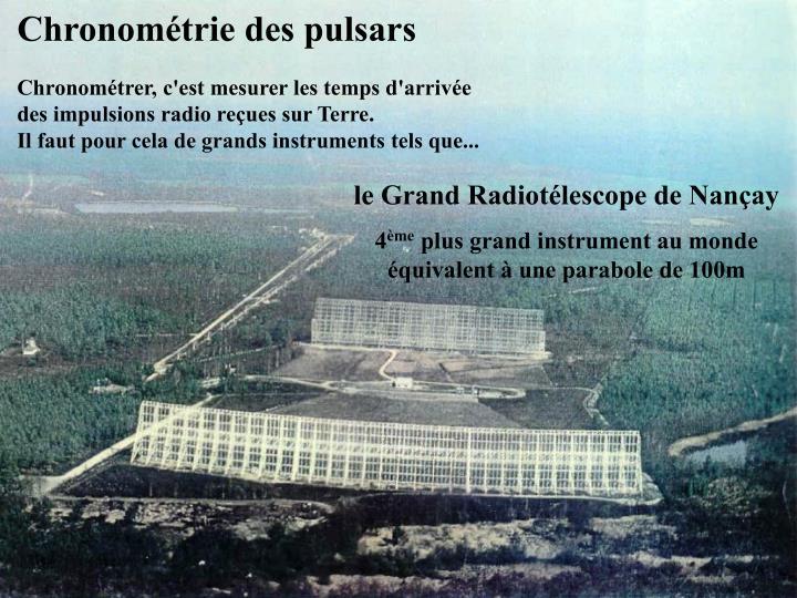 Chronométrie des pulsars