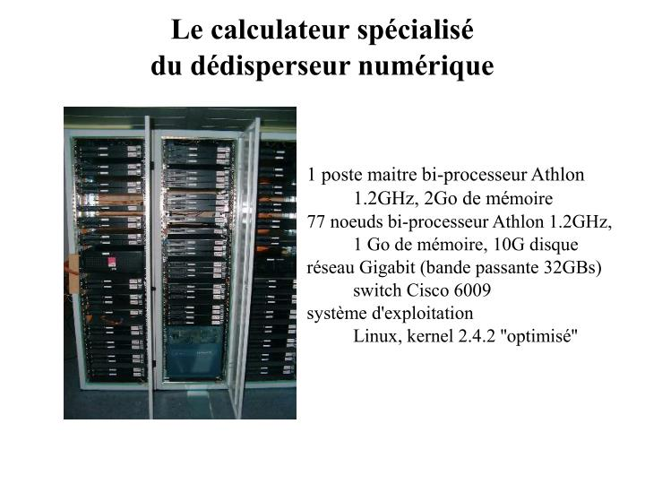 Le calculateur spécialisé