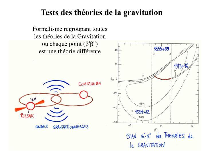 Tests des théories de la gravitation