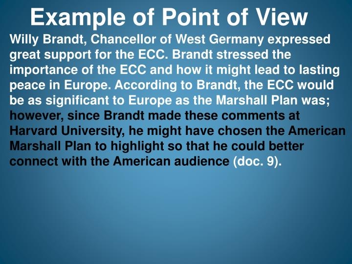 Example of Point of View