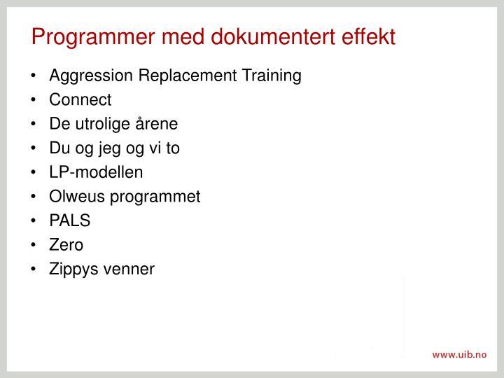 Programmer med dokumentert effekt