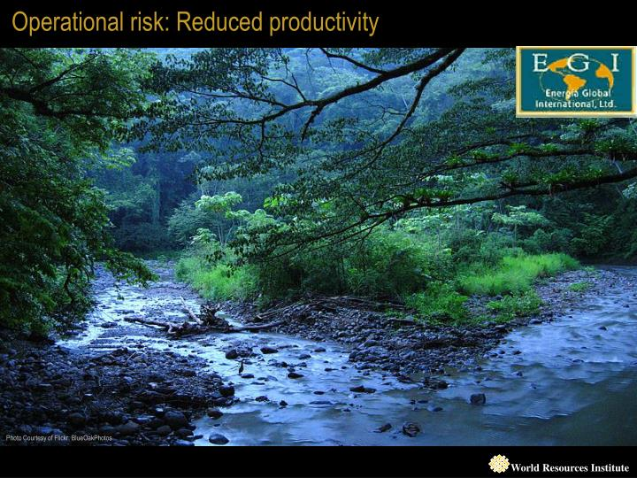 Operational risk: Reduced productivity