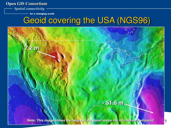Geoid covering the USA (NGS96)