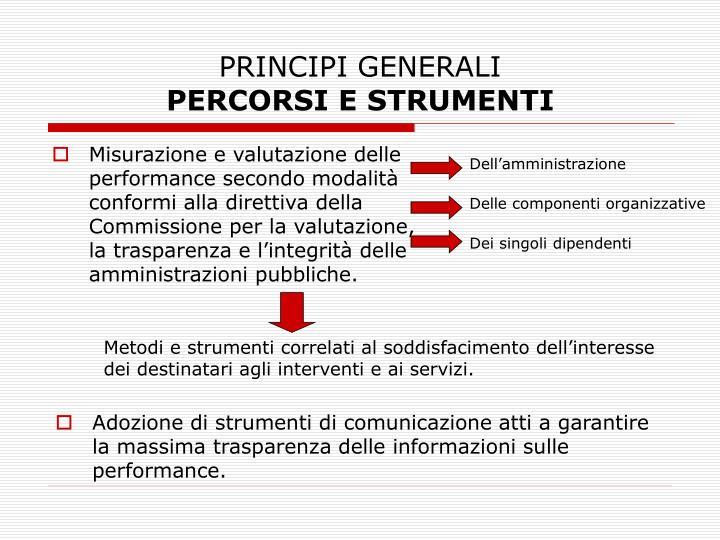 Principi generali percorsi e strumenti