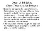 death of bill sykes oliver twist charles dickens