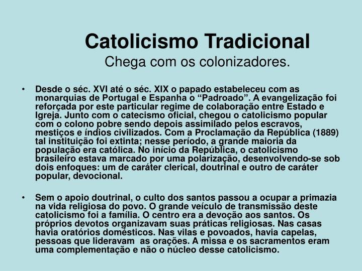 Catolicismo Tradicional