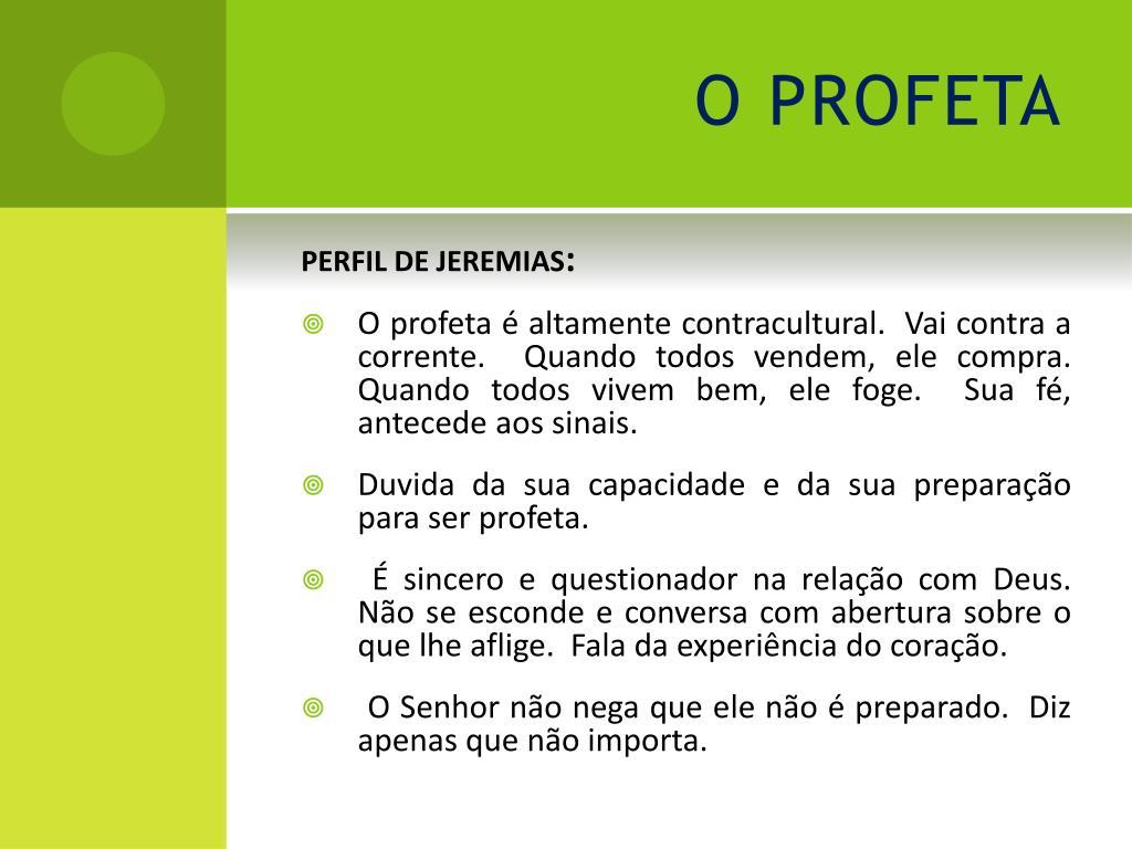 PPT - PROFETA JEREMIAS PowerPoint Presentation - ID:4732497