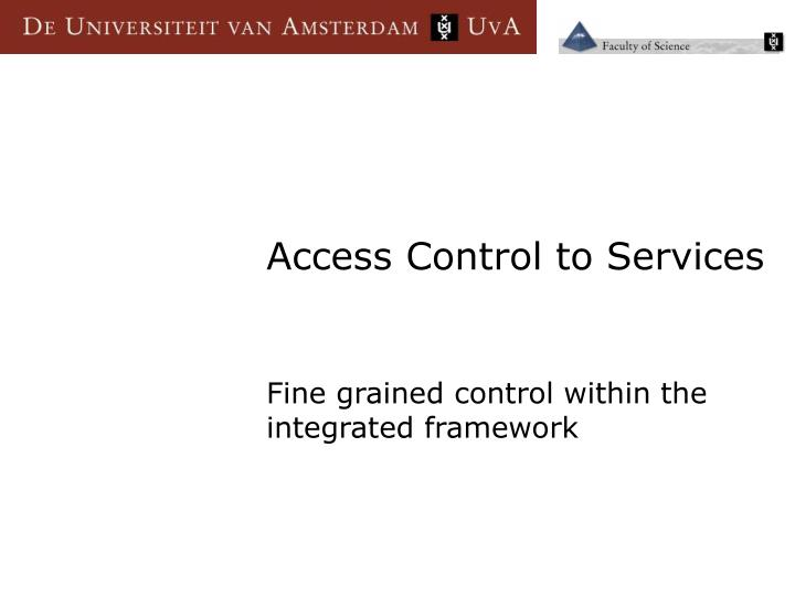 Access Control to Services