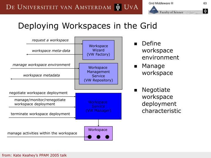 Define workspace environment