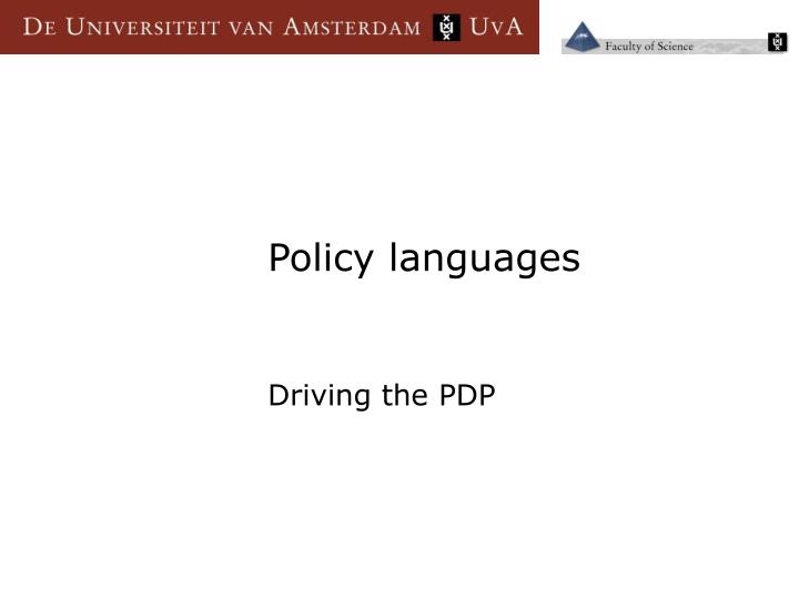 Policy languages