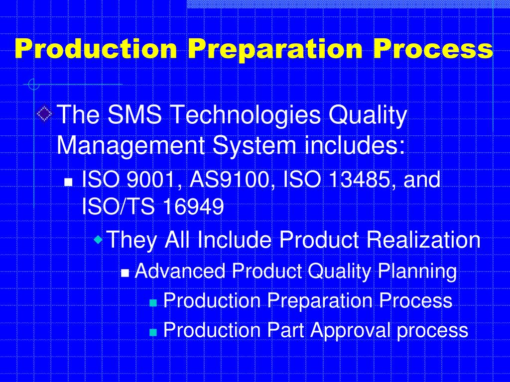 production preparation process n.
