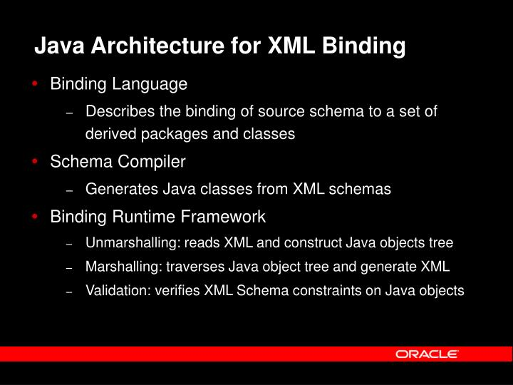 Java Architecture for XML Binding