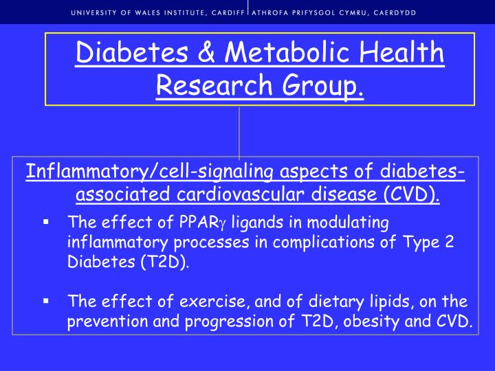 Diabetes & Metabolic Health Research Group.
