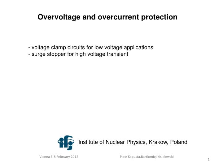 PPT - Overvoltage and overcurrent protection PowerPoint Presentation