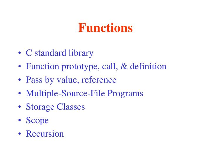 PPT - Functions PowerPoint Presentation - ID:4732758