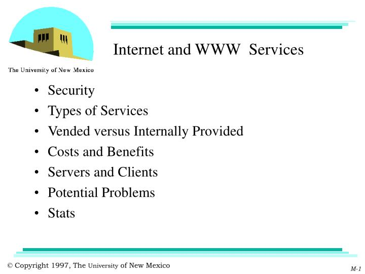 internet and www services n.