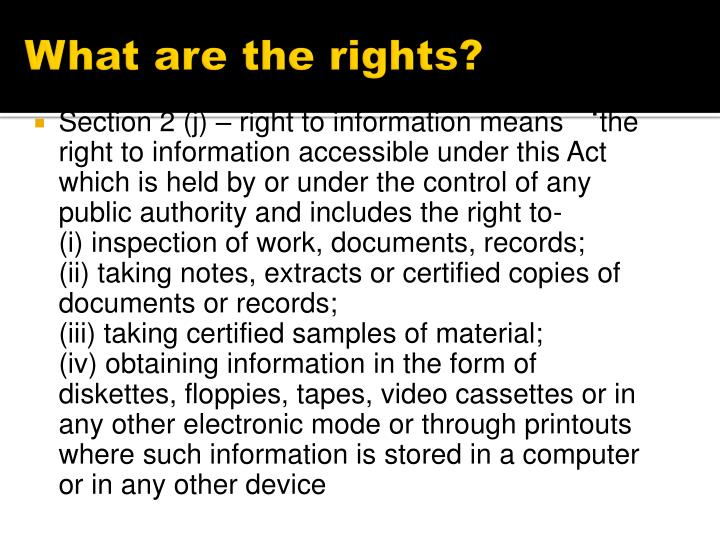 What are the rights?