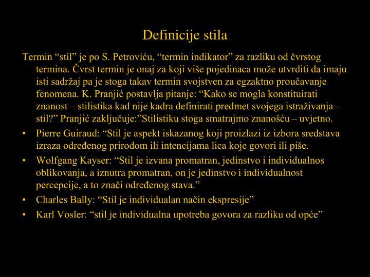 Definicije stila