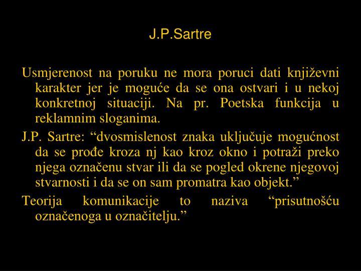 J.P.Sartre