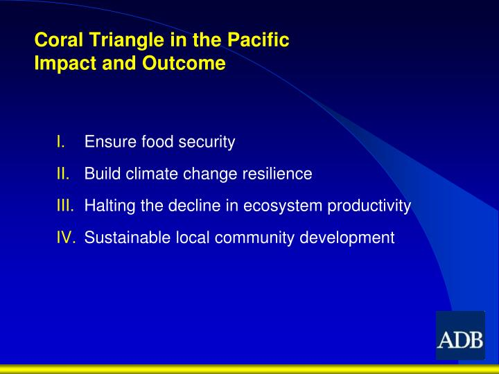 Coral Triangle in the Pacific